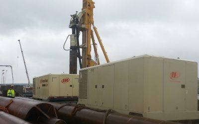 Giant DTH drill on foundation project